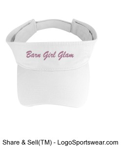 Washed Cotton Twill Visor Design Zoom
